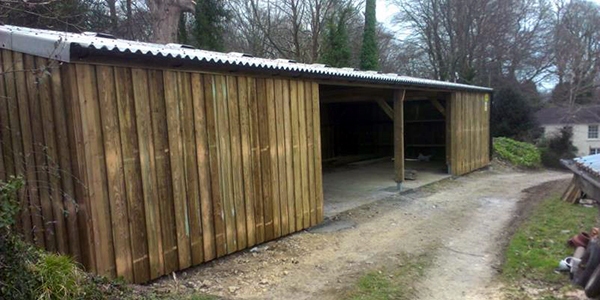 Steel Framed Sheds : Timber frame buildings cornwall building